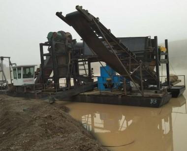 挖沙采金选金船