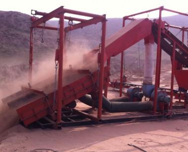 无水干选沙金矿机器