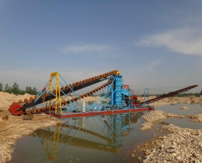 河道采砂船,挖砂船设备